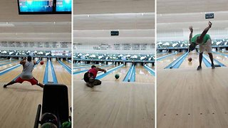 Incredible self-taught bowling trick shots caught on film
