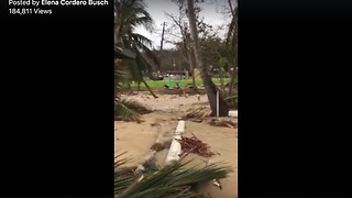Hurricane Maria Causes Damage in Puerto Rico Town - Video
