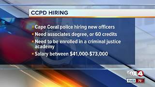 Cape Coral Police Department are hiring until August