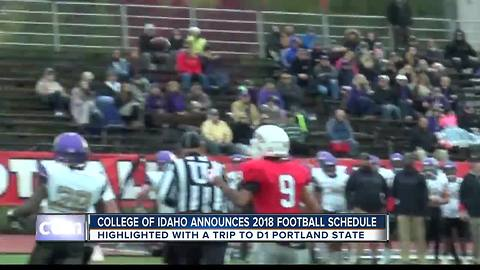 College of Idaho Announces 2018 Football Schedule