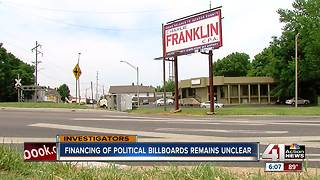 Campaign billboards raise funding questions - Video