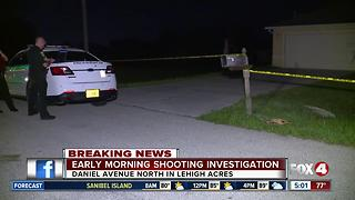 Shooting under investigation in Lehigh Acres Thursday morning - Video