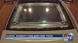 Woman's oven explodes while making dinner, but this isn't the first time that's happened - Video