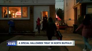 Cotton Candy on Halloween in North Buffalo