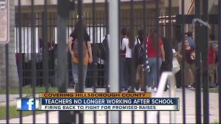 Hillsborough teachers fire back, say they will no longer work more than 8-hours a day