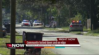 Community locked down and on edge - Video