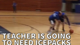 Teacher Is Going To Need Icepacks After Trying To Guard Student - Video