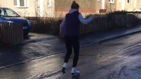No Ice Rink Required for This Scottish Skater