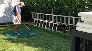 Incredible trick shot uses a chopping board and couch cushions