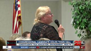 Congressional candidate holds townhall - Video