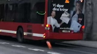 Bus from hell shoots flames