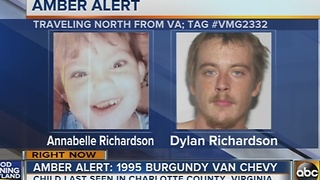 AMBER Alert issued for 4-year-old Virginia girl