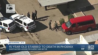 Suspect wanted after teen stabbed, killed in Phoenix