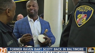 Former Raven Bart Scott returns to Baltimore - Video