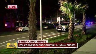 Police investigating situation in Indian Shores - Video