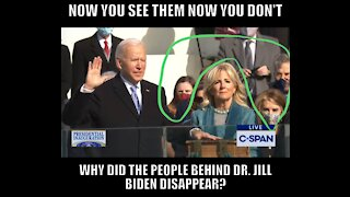Disappearing People at Biden Inauguration