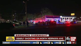 One person dead in double shooting at Tampa liquor store