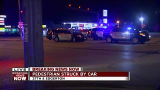 Police: Pedestrian hit, injured by car in Greenfield - Video