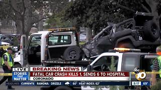 One person dead in possible DUI crash in Coronado - Video