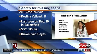 KCSO searching for missing teenagers