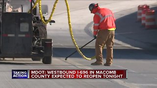 WB I-696 in Macomb County is reopening Saturday