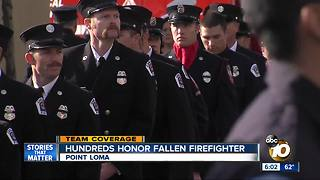 Hundreds honor fallen firefighter Cory Iverson - Video