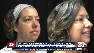 Liquid lunchtime facelift trend - Video