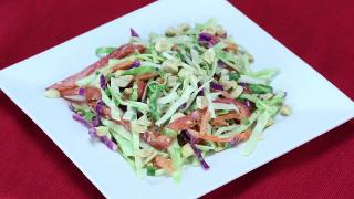 Crunchy Cabbage Salad with Spicy Peanut Dressing - Video
