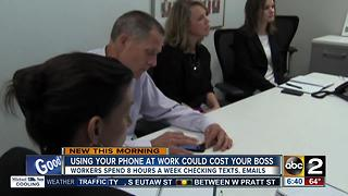 Using your phone at work is costing your boss - Video