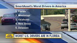 Florida has the worst drivers in the nation, ranked #1 two years in a row - Video