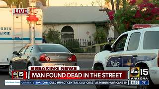 Police: Man found shot dead on west Phoenix street - Video