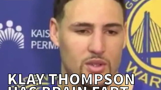 Klay Thompson Has Brain Fart During Interview - Video
