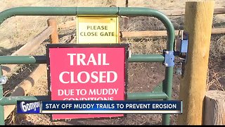 Want to get in your hiking fix and enjoy the warmer weather? Make sure you stay off muddy trails!