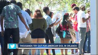 Thousands try out for American Idol in Orlando - Video