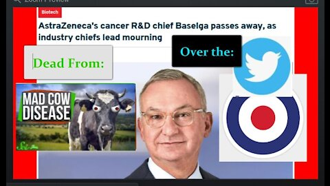Twitter Bans My Mad Cow Disease Video - While an AstraZeneca Executive Dies From Creutzfeldt-Jakob