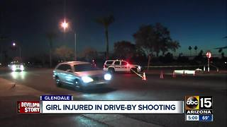 Girl injured in drive-by shooting in Glendale over the weekend - Video