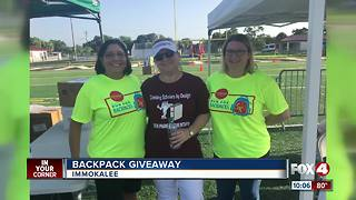 Backpack Giveaway for Back to School - Video