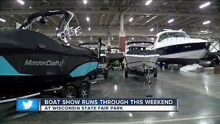 Milwaukee Boat show runs through this weekend at Wisconsin State Fair Park - Video