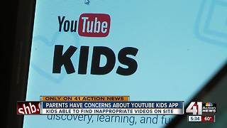 Parents have concerns about YouTube Kids app