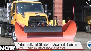 Detroit rolls out 29 new snowplows ahead of winter - Video