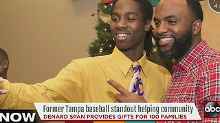 MLB player comes back to Tampa to help community - Video
