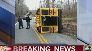 5 treated for injuries in school bus crash in Charles County - Video