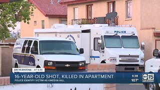 16-year-old shot, killed in apartment