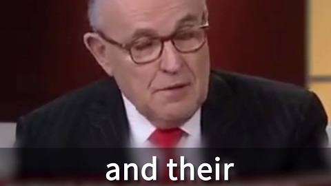 Rudy Giuliani To Lead Them Of Experts On Cyber Security