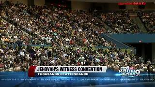 Thousands attending Jehovah's Witness convention this weekend - Video