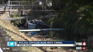 Police Officer Run into Canal - Video