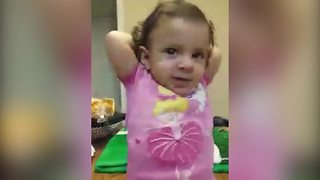 """""""Toddler Girl Babbles Along to Mom's Made Up Song"""""""