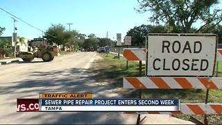 Sewer pipe repair project enters second week - Video