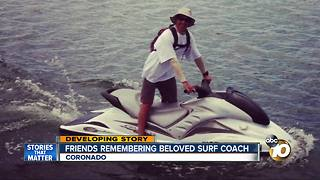 Friends, students remember beloved surf instructor - Video