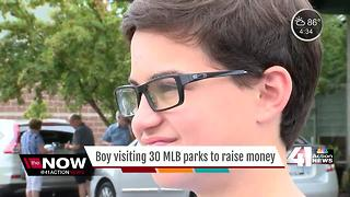 12-year-old attending games at every MLB stadium for charity - Video